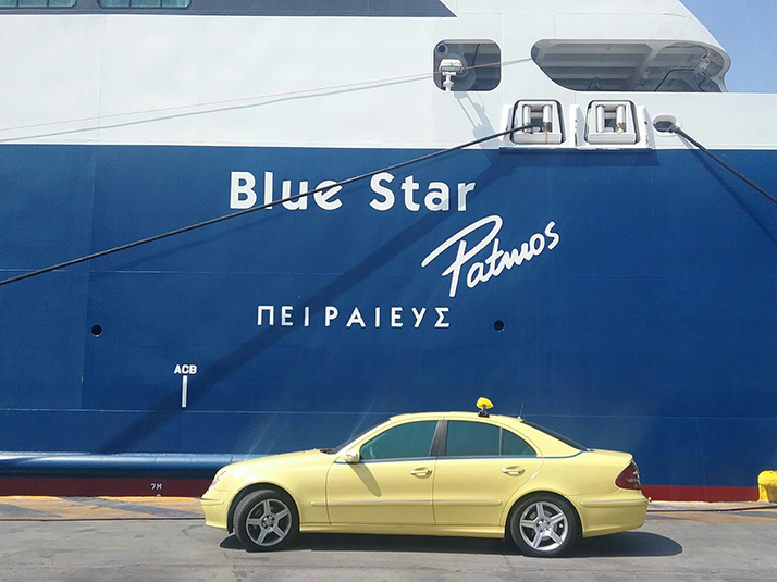 Our Taxis in Piraeus Port
